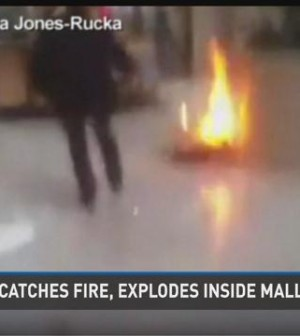 Hoverboard catches fire at Deerbrook Mall (Video)