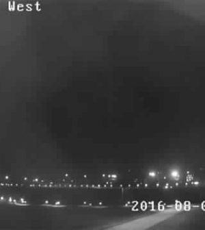 Security cam captures unexplained light over Gateway Arch