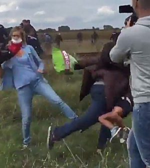 Petra Laszlo: Camerawoman Who 'Kicked Migrants' Charged In Hungary
