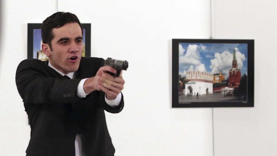 Russian ambassador shot dead in Turkey art gallery (Watch)