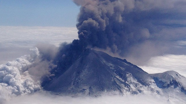 Alaska volcano erupts, sends up another ash plume