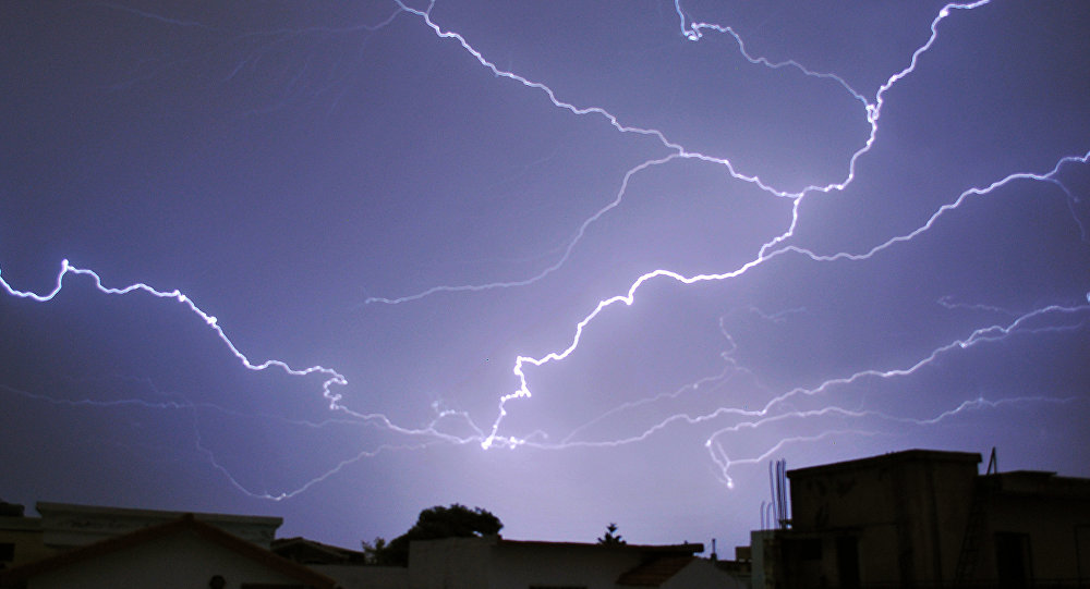 NOAA weather satellite map lightning data before it strikes