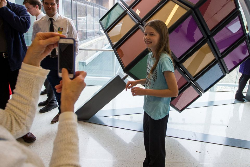 1500 Pound Rubik's Cube Installed on University of Michigan Campus