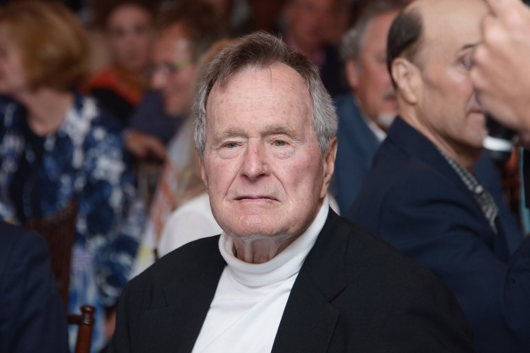 George Bush Sr. Hospitalized After Treatment For Pneumonia, Report