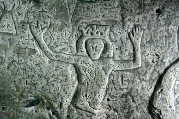 Knights Templar carvings found under Hertfordshire town centre (Picture)