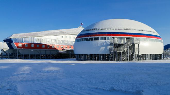 Russia unveils giant new Arctic military base
