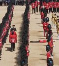 Guardsman faints during Queen Elizabeth's birthday parade (Watch)