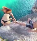 The truth is revealed: Shocking viral clip of woman falling from cliff (Video)