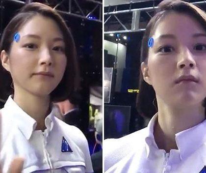Android woman? Incredible video of eerily lifelike robot