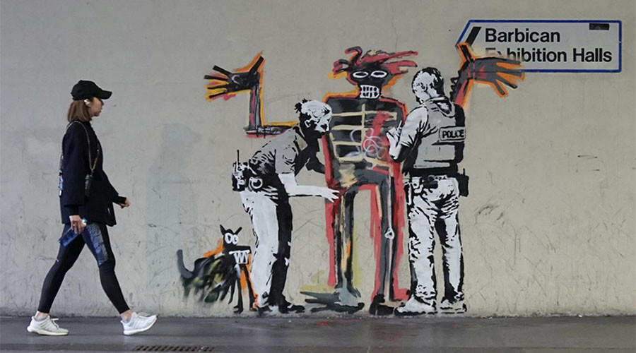 New Banksy Murals At The Barbican Explained On Instagram (Picture)