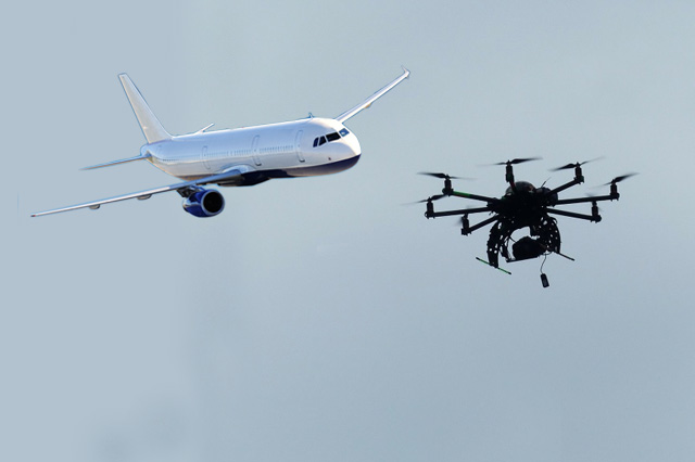 Drone Hits Plane In Canada