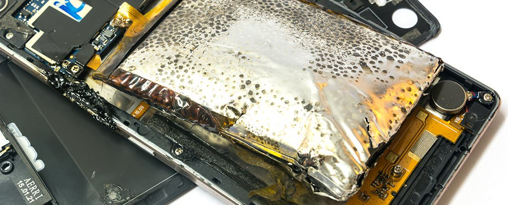 Researchers look at damage that burns up and explodes phone batteries
