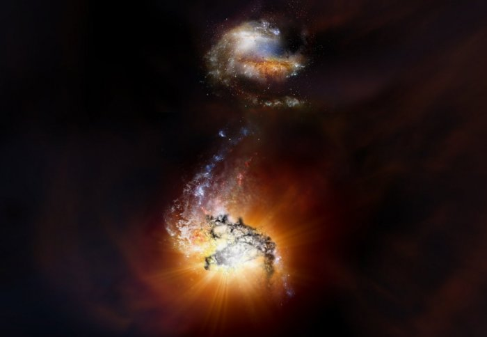 ADFS-27: Duo of titanic galaxies caught in extreme starbursting merger