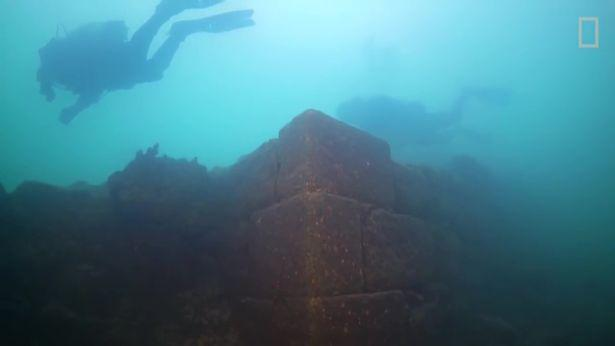 Underwater castle found at the bottom of a lake Van in Turkey