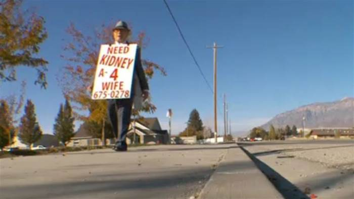 Wayne Winters Who Walked Miles with a 'Need Kidney 4 Wife' Sign Finds a Donor