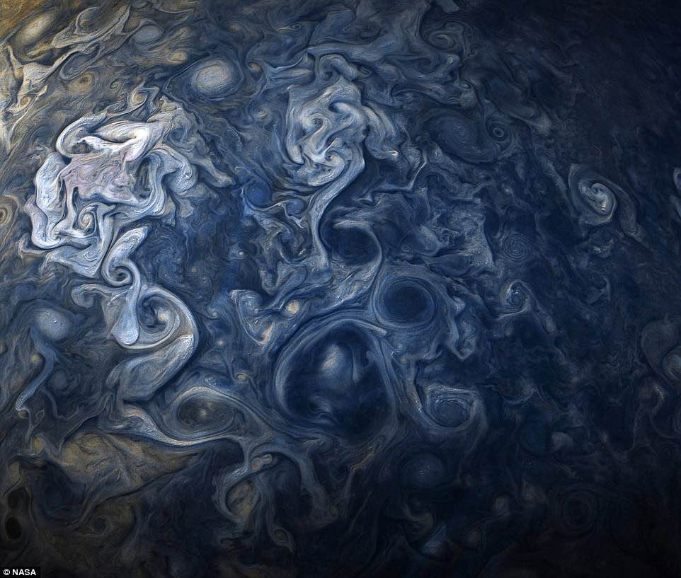 Jupiter in striking shades of blue (Picture)