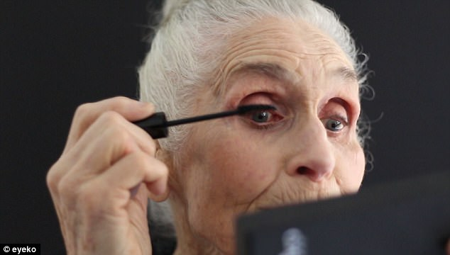 Daphne Self, the world's oldest model and new face of Eyeko