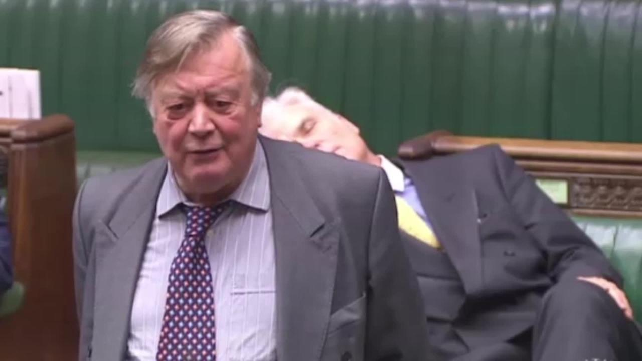 Desmond Swayne 'falls asleep' during Ken Clarke's Commons speech