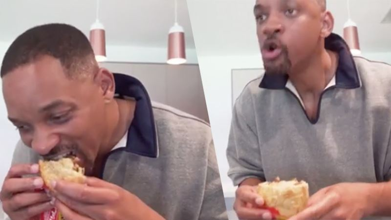 Will Smith eats meat pie, and his reaction was priceless (Video)