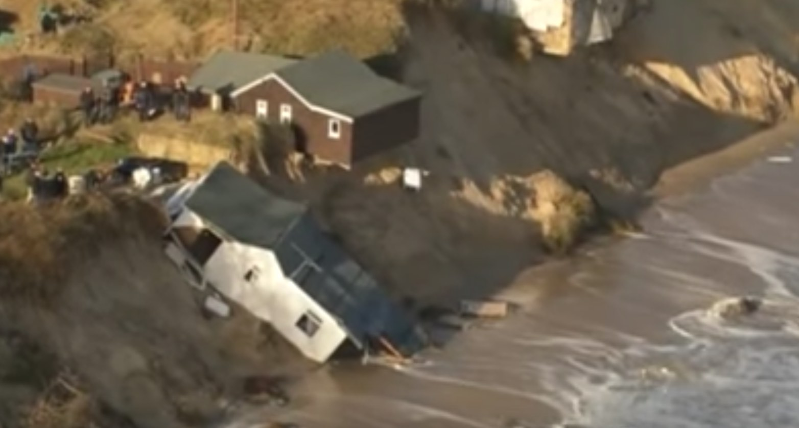 Norfolk homes evacuated due to coastal erosion (Watch)