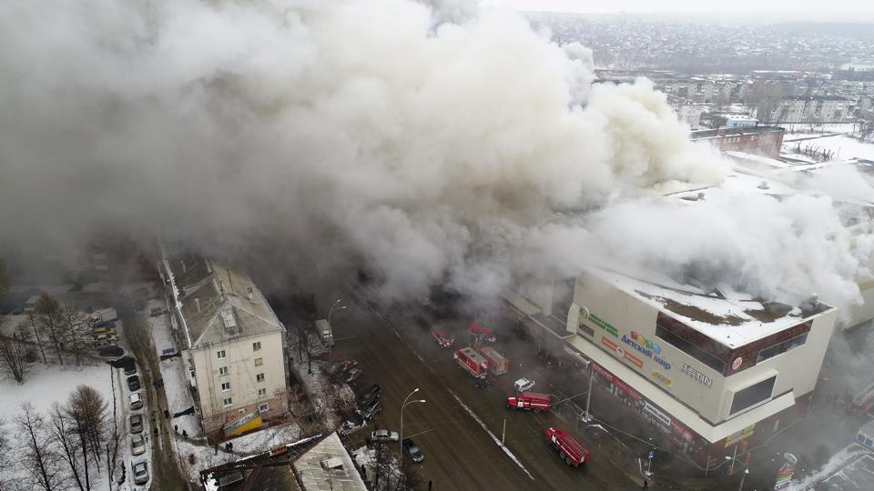 Shopping Mall Fire in Siberia Kills 64