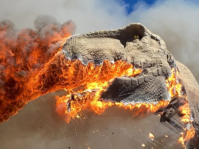 T-Rex catches Fire in Colorado, and burns brighter than the sun (Video)