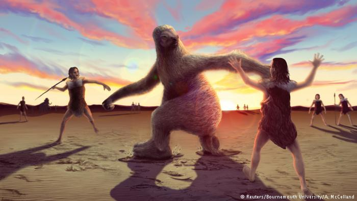 Humans, giant sloth hunt hinted at in 15,000-year-old footprints