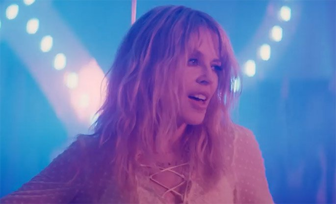 "Kylie Minogue Shares ""Stop Me From Falling"" Video"