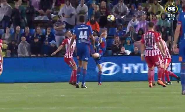 Riley McGree scorpion kick goal video (Watch)