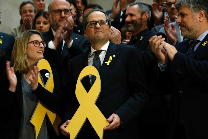 Catalonia: Quim Torra vows to put Carles Puigdemont back in power