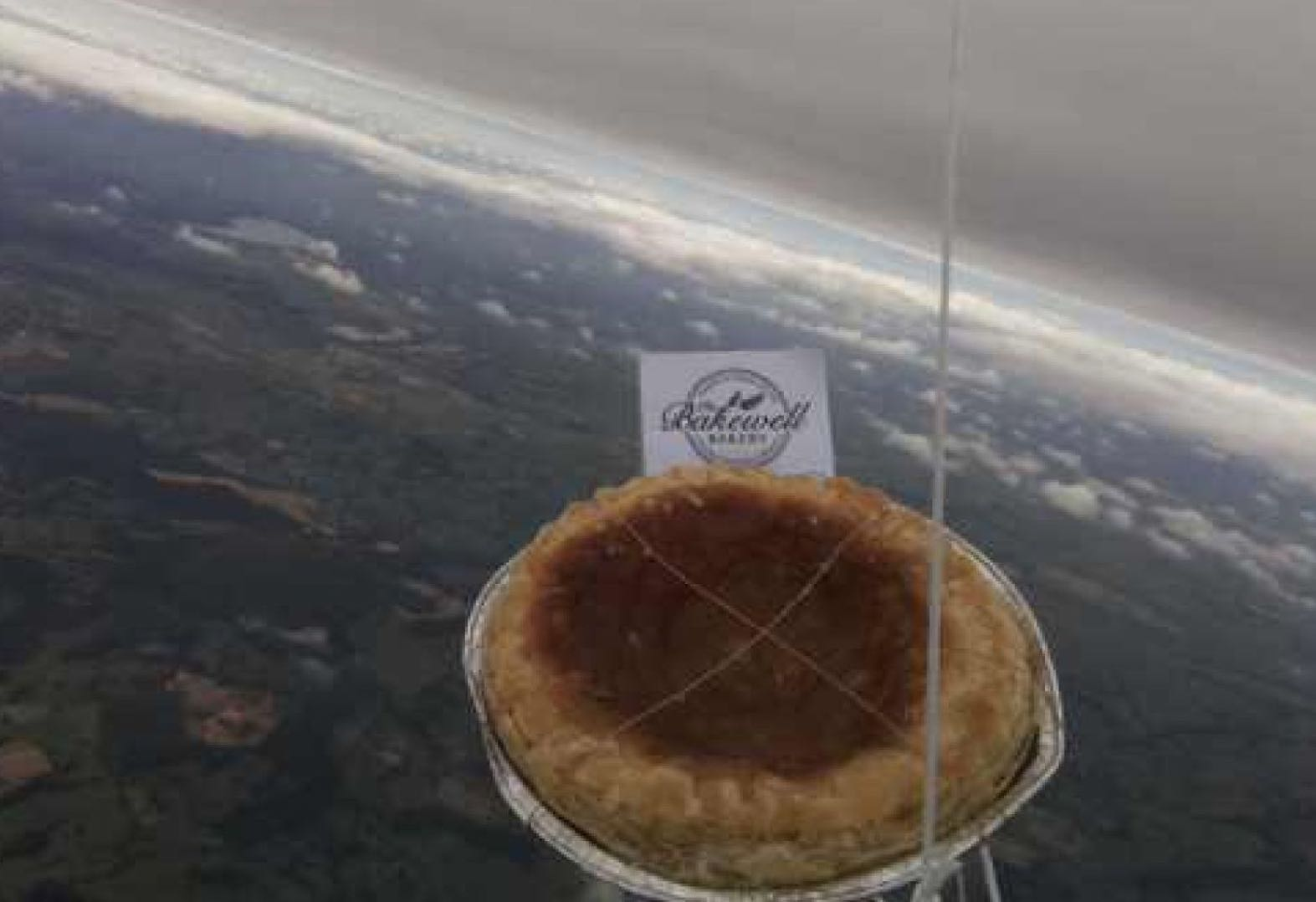 A Bakewell pudding sent to space is missing in action (Photo)