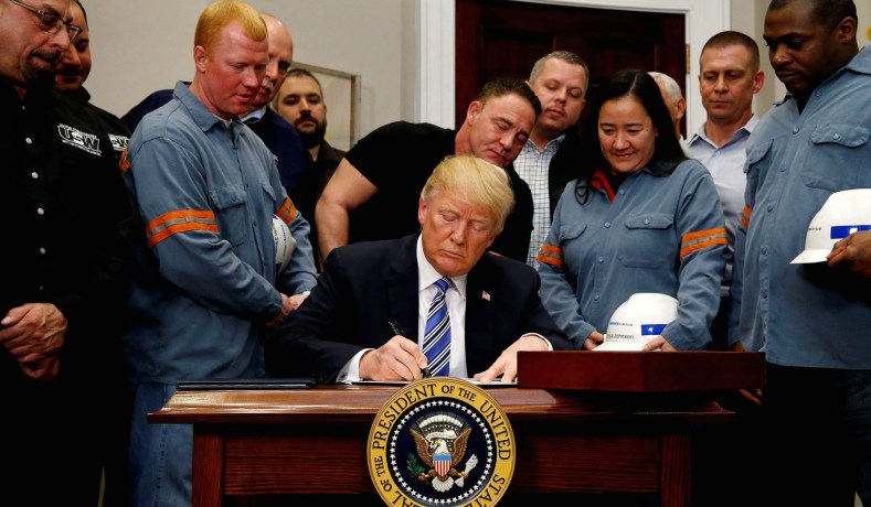 EU: US tariffs on steel, aluminium imports totally unacceptable