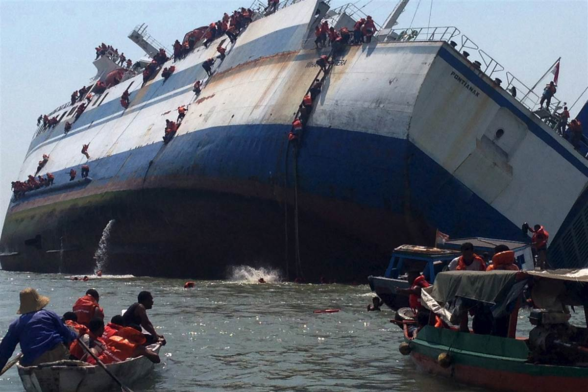 Ferry Sinks In Indonesia, One dead, dozens missing