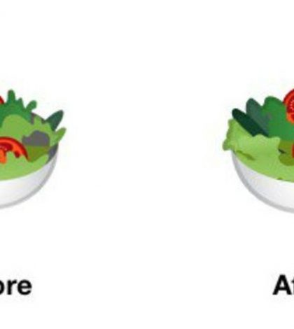 Google's New Salad Emoji Is Going Vegan and Removing the Egg
