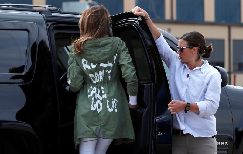 Melania Trump's jacket was no mistake (Photo)