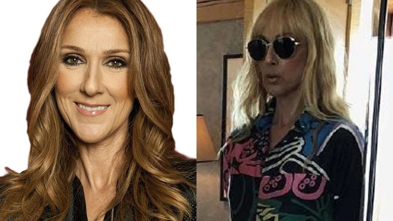 Celine Dion's fringe migrated from her head to her dress (Photo)