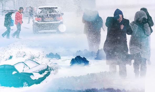 Arctic blast snow UK: Met Office warns of SNOW this weekend