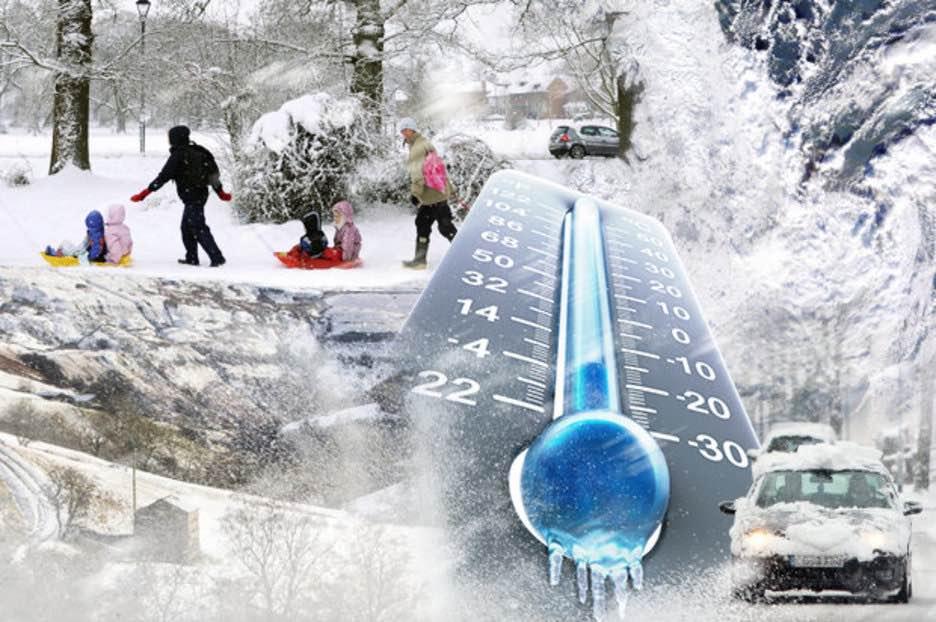 Arctic blast snow UK: temperatures to FALL in 24 hours