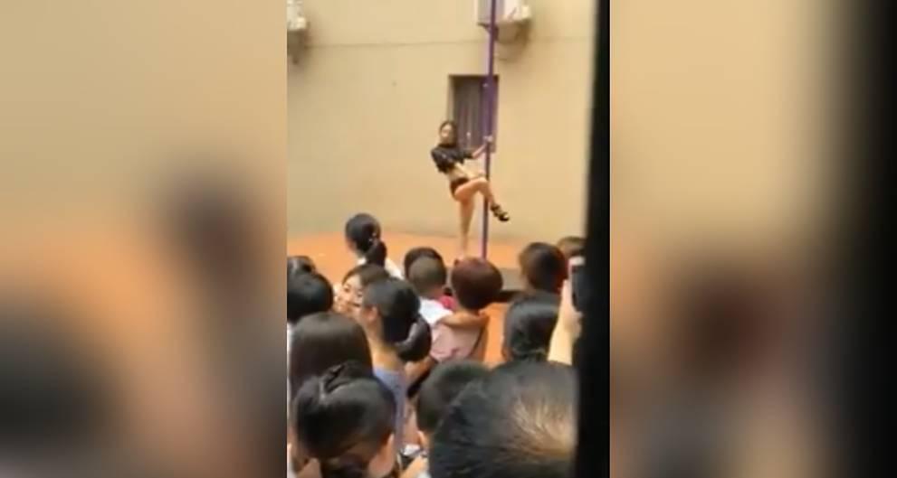 Chinese kindergarten: School welcomes pole dance (Video)