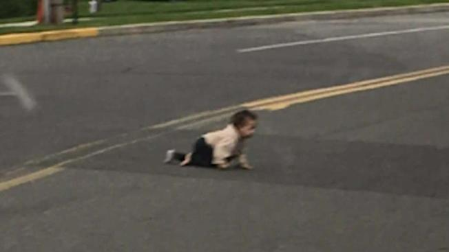 Dad charged after baby found crawling across NJ street