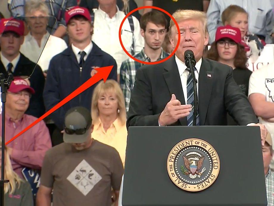 'Plaid shirt guy' at Trump rally goes viral (Watch)