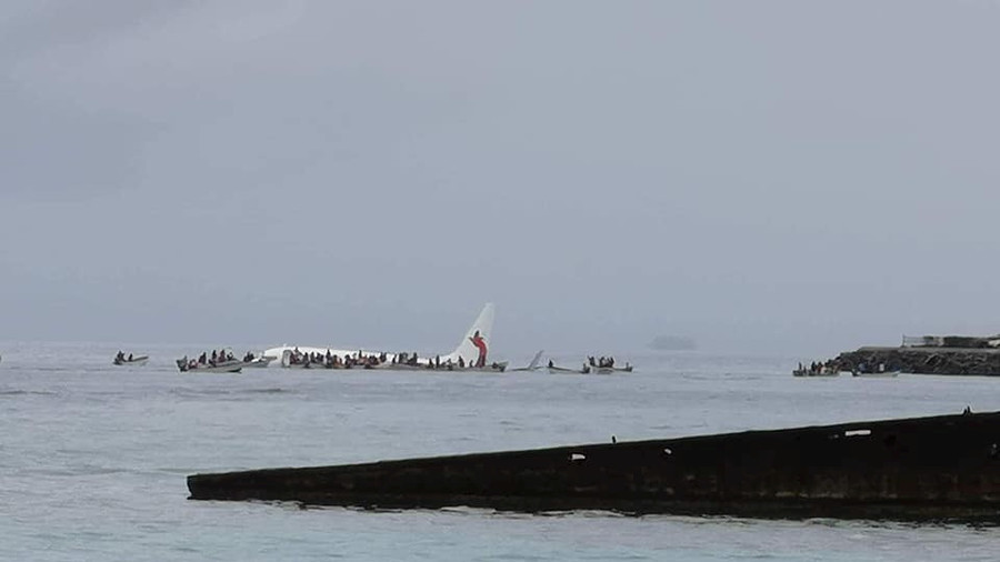 Plane Lands in Ocean during take-off in Micronesia, Report