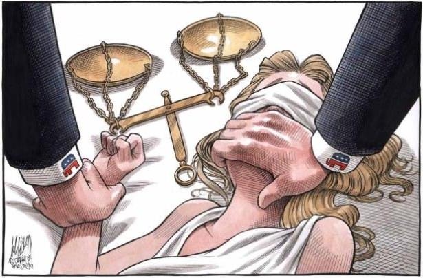 Bruce MacKinnon: Halifax artist's cartoon shows assault on Lady Justice