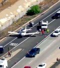 California freeway landing: Pilot, student land small plane on I-8