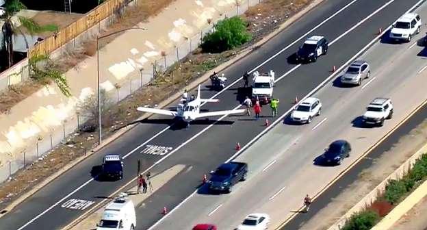 California freeway landing: Pilot, student land small plane on I-8