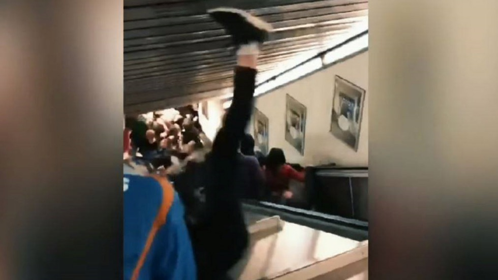 Escalator collapses in Rome metro (Watch)