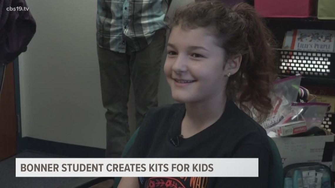 Isabella Sains Student makes kits for students