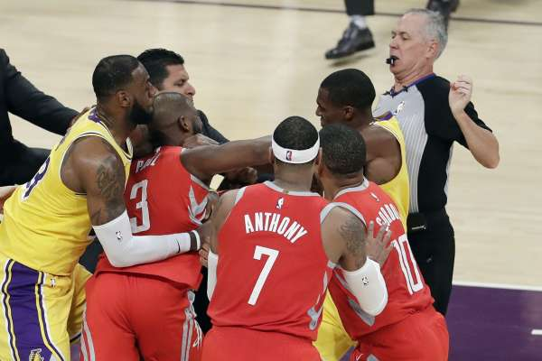 Lakers Rockets brawl: NBA is weighing possible suspensions