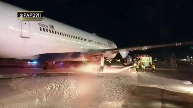 Landing gear fire at JFK (Watch)