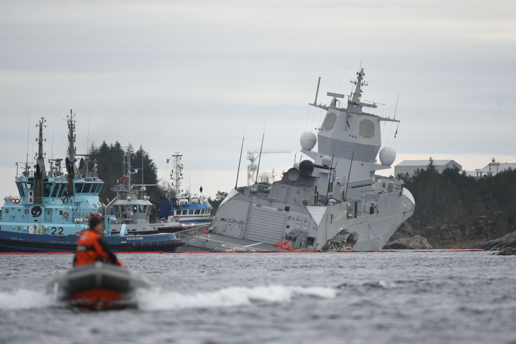 Helge Ingstad sinks after collision with Maltese oil tanker